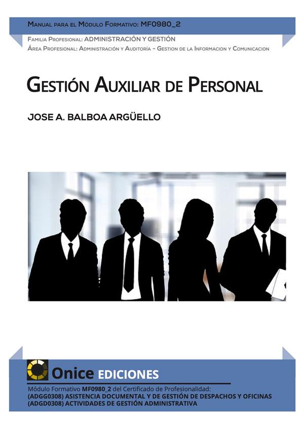 MF0980_2 Gestión Auxiliar de Personal